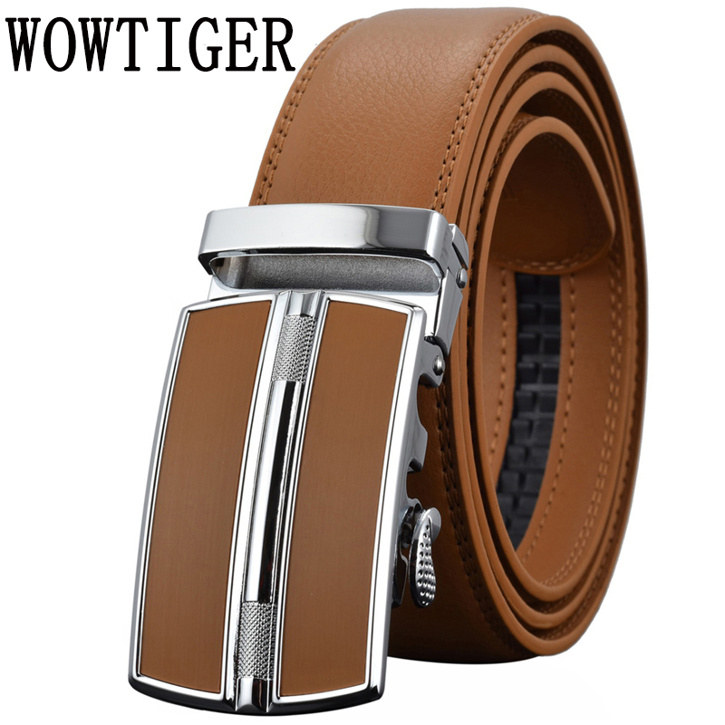 Men s Belts Luxury Automatic Buckle Genune Leather Strap Black Brown for Men 2017 Mens Belt