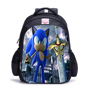 Image 3 - 16 Inch Mario Sonic Boom Hedgehogs Children School Bags Orthopedic Backpack Kids School Boys Mochila Infantil Catoon Bags
