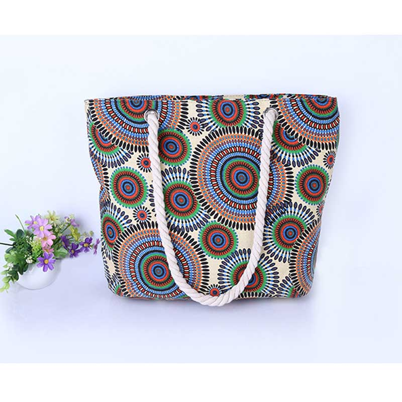 3 color sigle or double shoulder casual handbag Fashion Travel canvas Sac a main for women