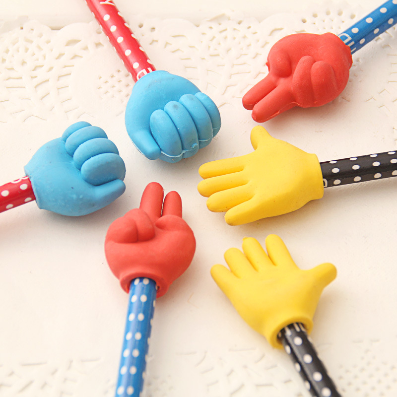 MEIKENG 6PCS Cute Creative Wood HB Pencil With Eraser Student School Office Use Funny Gift For Childrens