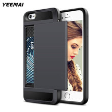Credit Card Slot iPhone 6 7 8 X 6S Plus 5 s 5S SE 5C Dual Layer