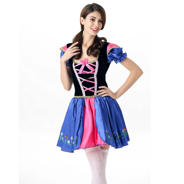 New Womens Traditional German Bavarian Beer Girl Costume ...