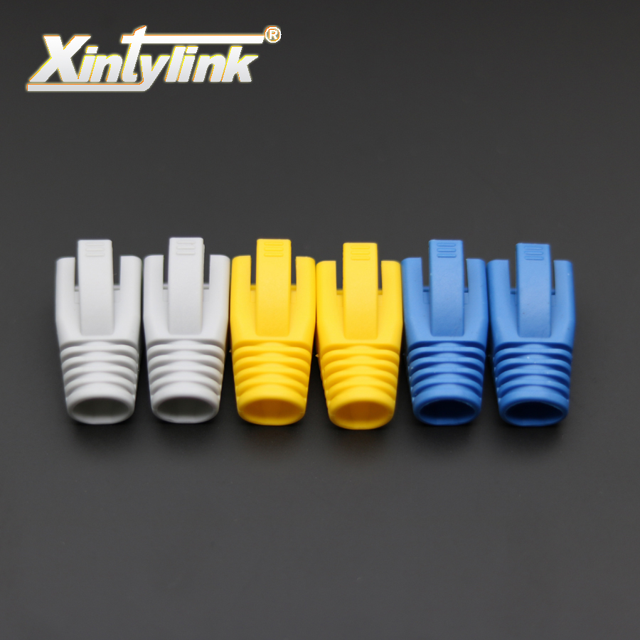 xintylink rj45 caps cat6a cat7 rj 45 netwerk ethernet-kabel connectoren cat 7 tpu laarzen schede beschermhoes bus 100 stks