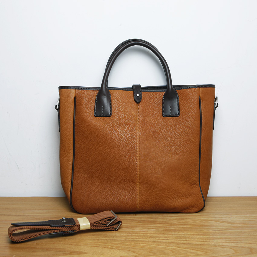 LAN Mens genuine leather handbag  concise  leisure business bag Large TOTE bagLAN Mens genuine leather handbag  concise  leisure business bag Large TOTE bag