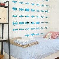 Creative Batman 3d Acrylic Mirror Wall Stickers Decoration Bedroom Baby Room Decor Decorative Mirrors Kids Room
