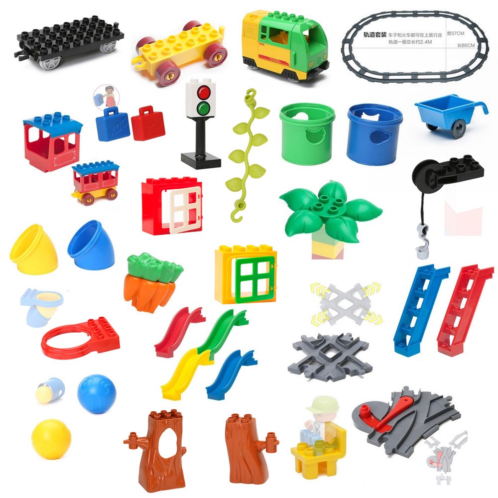 NEW Bulk Big Building Blocks font b Toys b font Swing Ladder Tree Raft Table Boat
