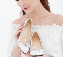 2016 New Style High Stiletto Heel 9cm Bridal Bridesmaid Dress Shoe White Pointed Toe Wedding Shoes Popular Formal Dress Shoes
