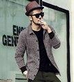 2016 new winter men long sleeve woolen shirt men's slim shirt collar woolen casual jacket brand clothing jaqueta masculina