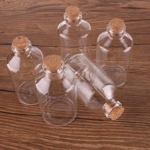 Image 3 - 24ピース60ミリリットルサイズ40*75*12.5ミリメートル透明ガラスびんコルク栓空スパイス瓶瓶のギフト工芸品バイアル