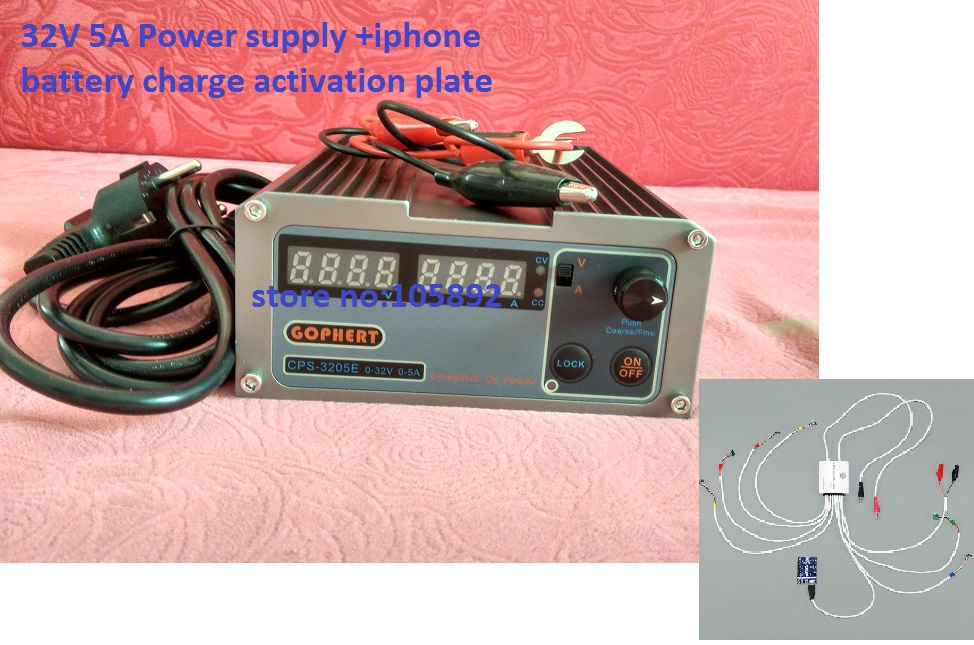 3 in 1 mini Digital Adjustable DC Power Supply 32V5A + Phone boot Repair Power data cable + battery charge activation plate cps 6011 60v 11a digital adjustable dc power supply laboratory power supply cps6011