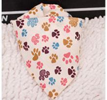 Image 2 - 60 pz/lotto Nuovo disegno Della Miscela di 60 Colori Regolabile Nuovo Cucciolo di Cane Pet bandane 100% Cotone Pet cravatta taglia S M y510