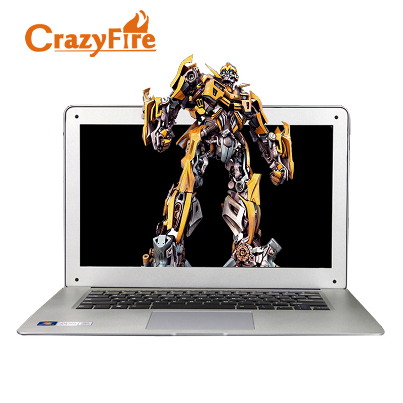 Crazyfire Windows 10 Laptop Computer Intel Celeron Quad Core Notebook 8GB RAM & 128GB SSD WIFI HDMI 1.3MP Webcam Gaming Laptops i5 ultrabook laptop computer with 4gb ram 32gb ssd wifi bluetooth hdmi webcam windows 10 notebook