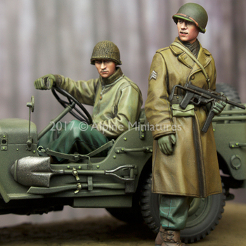 1/35 resin figure soldier model World War II American infantry officer and driver two GK white model hand 201