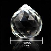 1pcs/Lot, Big Size100mm Crystal Hanging Pendant Balls Glass Prism Chandelier Balls