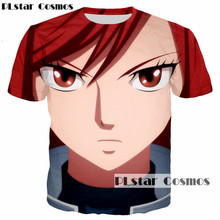 PLstar Cosmos 2018 summer new fashion t-shirt Anime Fairy Tail tshirt characters Erza Scarlet 3d print Men Women t shirt tops