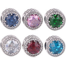4c2481cca dodocharms Spring Dazzling Daisy Meadow Charm Beads Fit Pandora Bracelets 925  Sterling Silver Pink CZ Flower