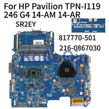 KoCoQin Laptop motherboard For HP TPN-I119 240 246 G4 14-AM 14-AR I5-6200U Mainboard 817770-501 6050A2730801-MB-A01 216-0867030(China)