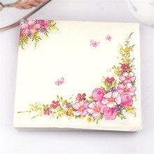 Розовые цветы Красота дизайнерские бумажные салфетки кафе и вечерние посуда тканевые салфетки украшение в технике декупажа Бумага 33 см* 33 см 20 шт./упак