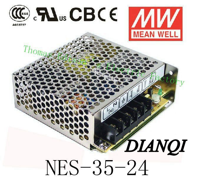 TOP quality Original MEAN WELL power suply unit ac to dc power supply NES-35-24 original power suply unit ac to dc power supply nes 350 12 350w 12v 29a meanwell