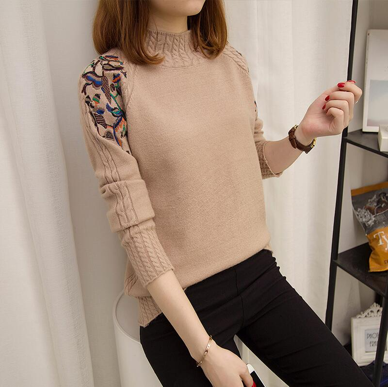 Pullover Sweater Blouse Autumn Women Plus-Size New-Fashion Slim Long-Sleeve