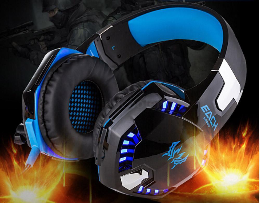bilder für 2017 beste PC Gamer casque JEDER G2000 Stereo mit Mic Mikrofon LED-Licht Hifi Gaming Haupttelefone Stereo Bass für PC Spiel Dota