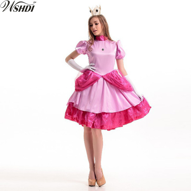 High Quality New Adult Pink Princess Costume Halloween Carnival ...