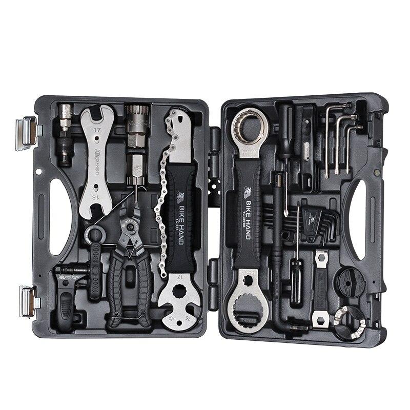 BIKEIN 18 en 1 Kit de herramientas de reparación de bicicletas juego multifunción MTB herramientas de reparación de cadena de neumáticos radios llave hexagonal destornillador herramientas de bicicleta - 2