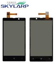 Touch Screen glas Digitizer kapazitiven touchscreen Ersatz für Nokia Lumia 820 Mit Logo (schwarz)