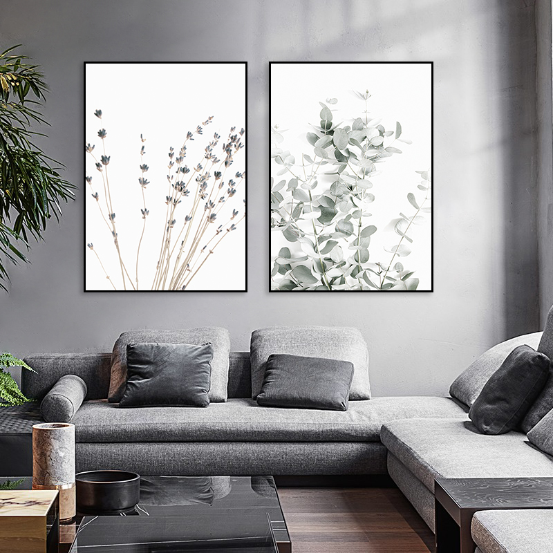 Botanical Canvas Painting Lavender Eucalyptus Posters Farmhouse Wall Decor Art Pictures Bedroom Decoration Scandinavian Decor image