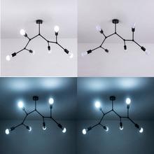 3/4/6 cabezas de luz Led de techo Vintage lámpara de techo de Loft Industrial para restaurante Bar luces iluminación del hogar techo