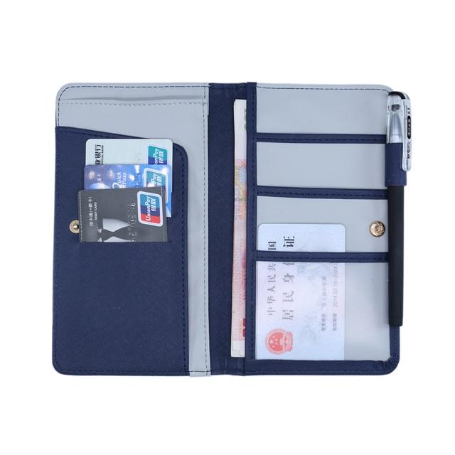 5b742815f50 Brand Travel Journey Document Organizer Wallet Passport ID Card Holder  Ticket Credit Card Clutch Bag Case