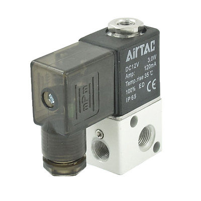 Air 3V1-08 1/4BSP 3V1-06 1/8DC12V/24V AC24V/36V/110V/220V/380V 3Way 2Position Pneumatic Electric Solenoid Valve Control 3V1-M5Air 3V1-08 1/4BSP 3V1-06 1/8DC12V/24V AC24V/36V/110V/220V/380V 3Way 2Position Pneumatic Electric Solenoid Valve Control 3V1-M5