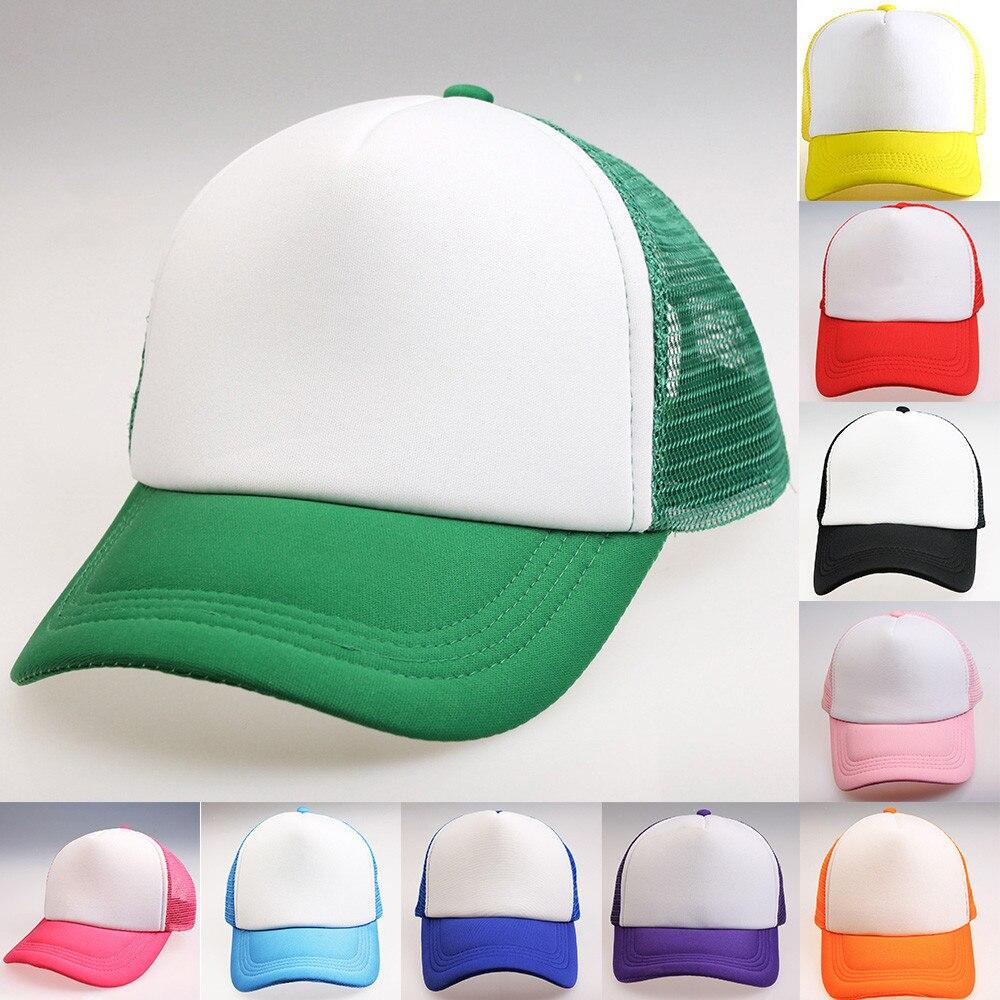 Womail   baseball     cap   new Fashion Unisex Boys Girls Color Block Snapback Hip Hop Flat Hat Adjustable Hat 2019 dropship f21