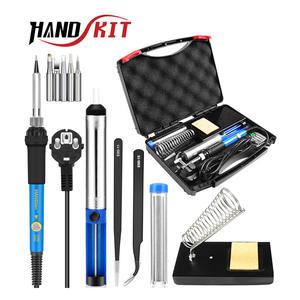 HANDSKIT Soldering-Iron-Kit Electric Adjustable 220V Temperature 110V 60W