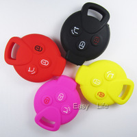 SILICONE Flip Car Key Cover Case For MERCEDES BENZ SMART 3Button Key Skin Suit