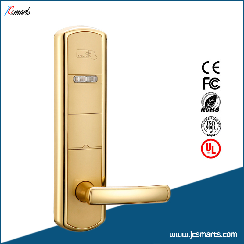 Apartments safety door locks IC/ID access control hotel card reader key lock system china manufacture hotel card reader locks rfid hotel door lock system