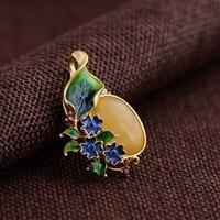 S925 Серебряный кулон ювелирные изделия пчелиный воск цветущие shaolan Craft женский подарок новый