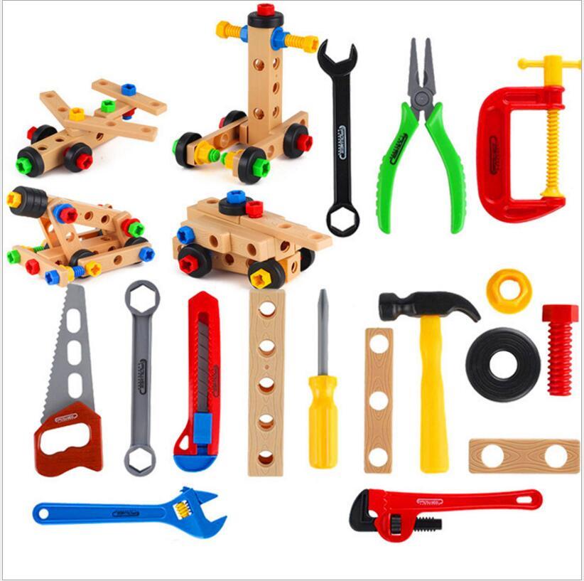 Puzzle assemblage et démontage de jouets outils d'entretien simulation famille construction et blocs de construction garçons
