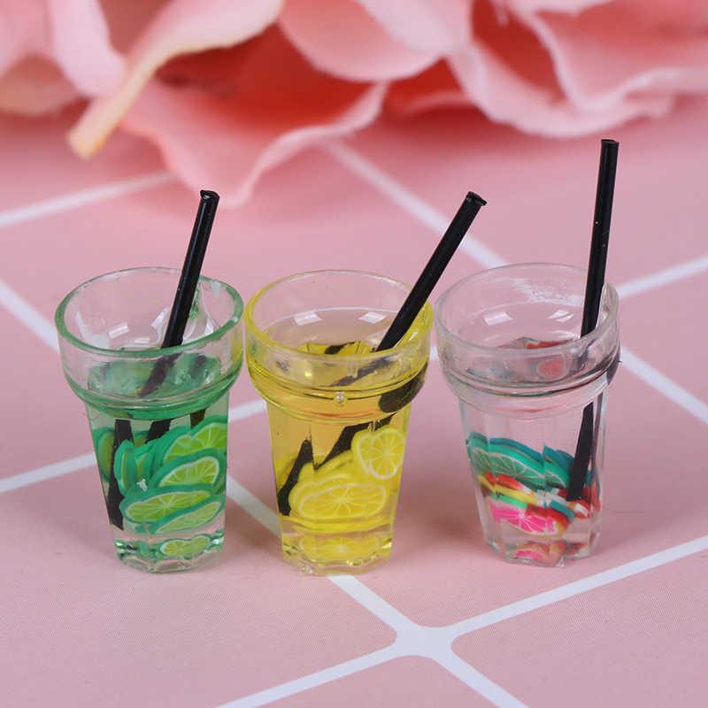 1/12 casa de bonecas miniatura resina alimentos, mini garrafa de frutas simulação bebidas modelo brinquedos, frutas, bebida, brinquedos, casa de bonecas, acessórios