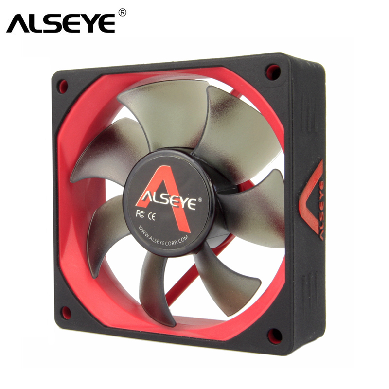 ALSEYE 80mm Fan Cooler DC 12V 3Pin Colling Fan for Computer 2000RPM with Silicone Skin Ultra-quite alseye 80mm pc fan cooler 12v slient cooling fans 3pin 2000rpm 8cm silicone skin fan for computer case