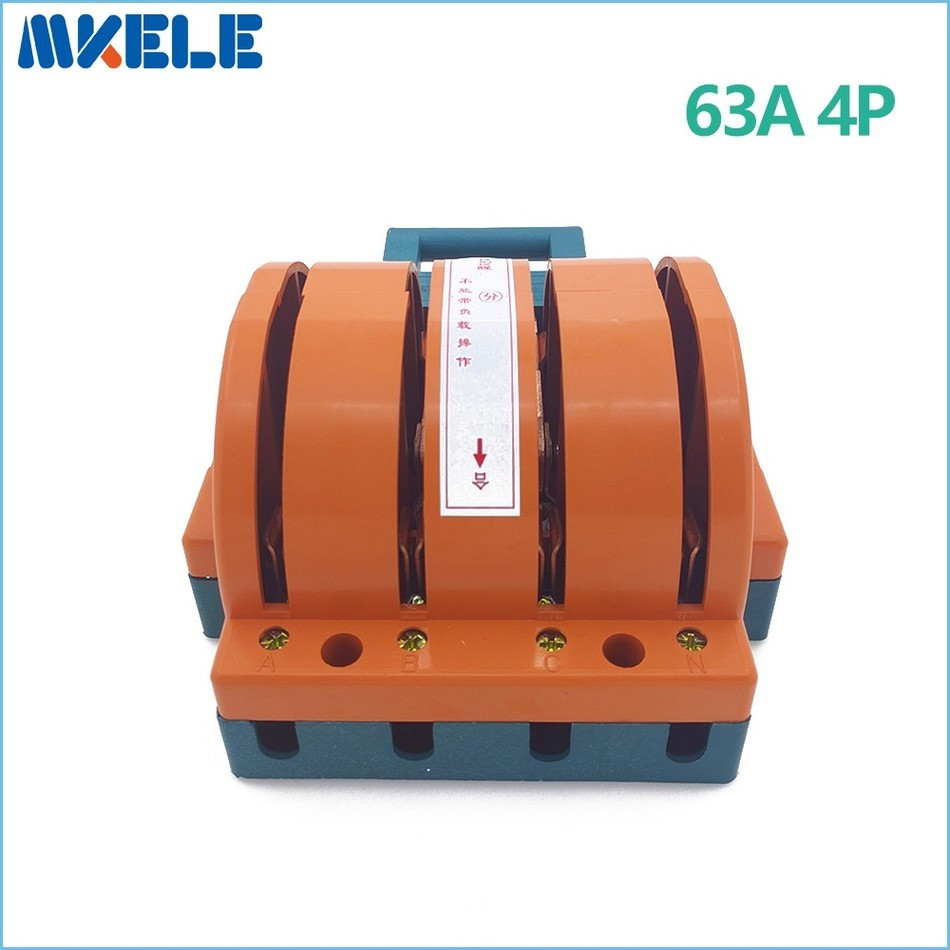 цена на Wholesale Heavy Duty 63A 4p Double Throw Knife Disconnect Switch Delivered Safety Knife Blade Switches