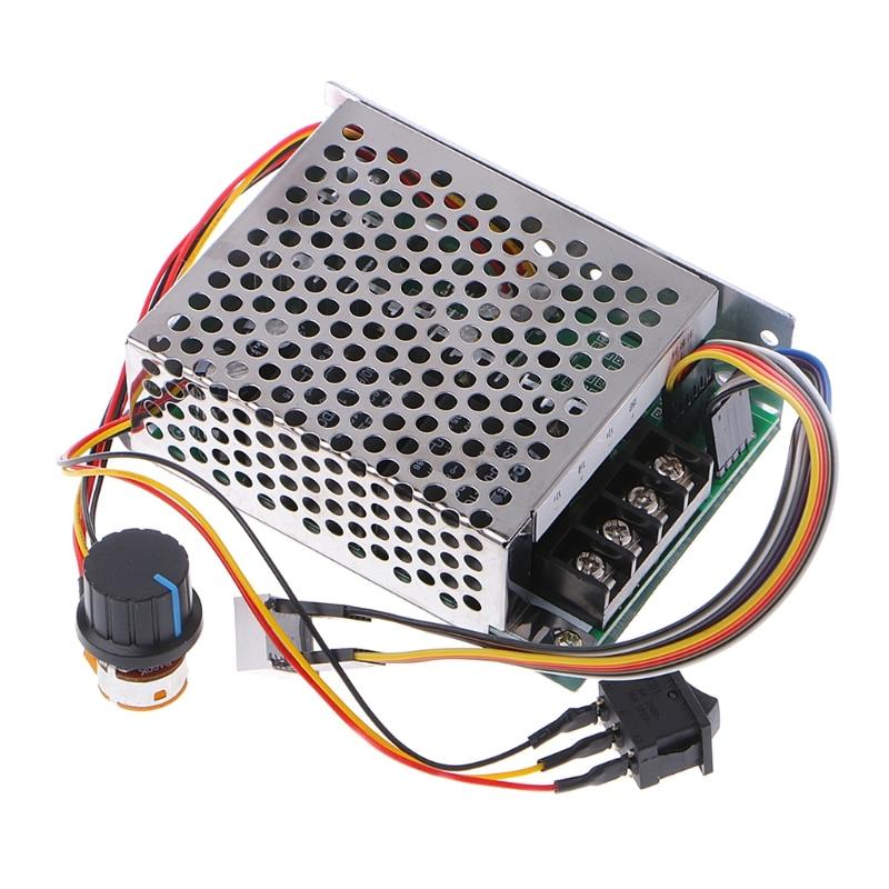 DC 10-55 v 12 v 24 v 36 v 60A PWM DC Motor Speed Controller CW CCW Reversible schalter