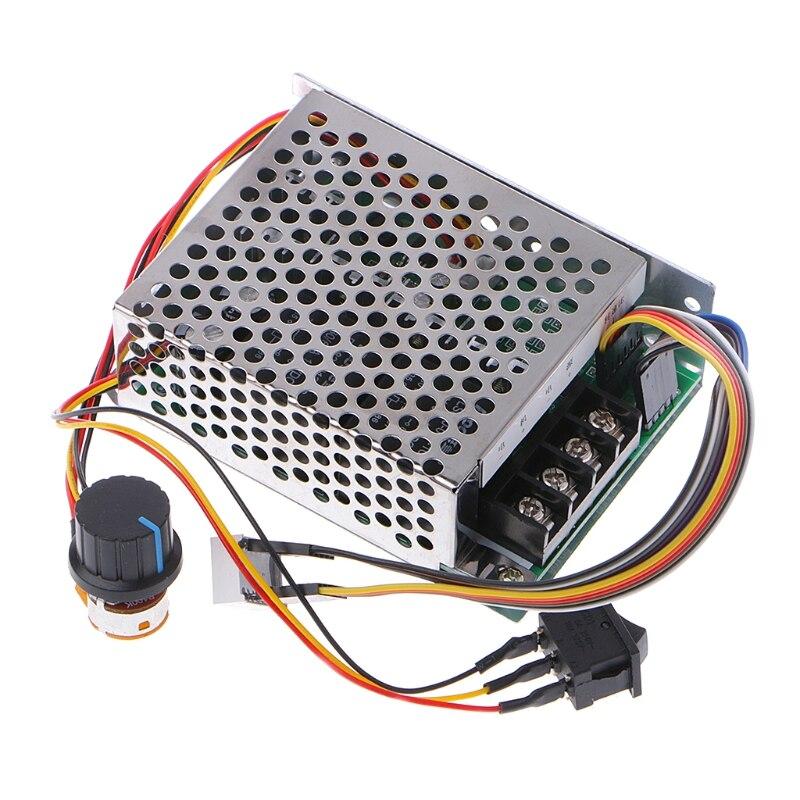 Interruptor reversível do controlador cw ccw da velocidade do motor da c.c. 10-55 v 12 v 24 v 36 v 60a pwm