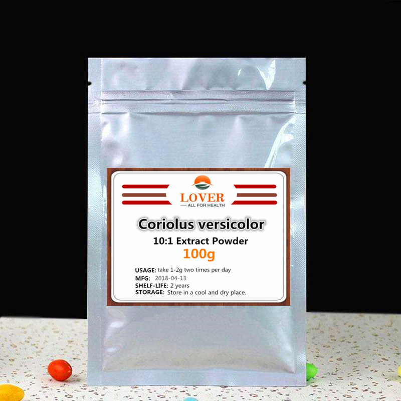 100g-1000g 100% Pure Natural Coriolus versicolor Extract powder,anti-tumor effect, enhancing immunity and liver protection 1000g 100% natural fruit powder strawberry juice powder strawberry extract beverage powder skin protection with best price