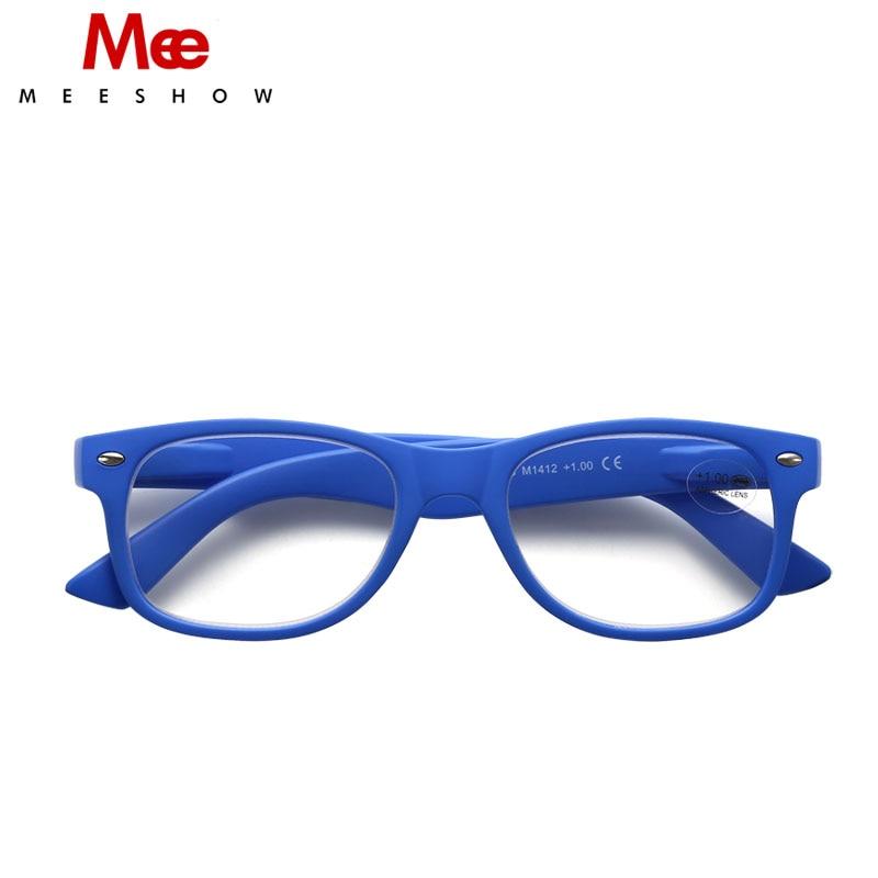 MEESHOW 브랜드 디자이너 독서 안경 남성 여성 클래식 안경, + 3.00 고품질 패션 리더 파우치 포함 M1415