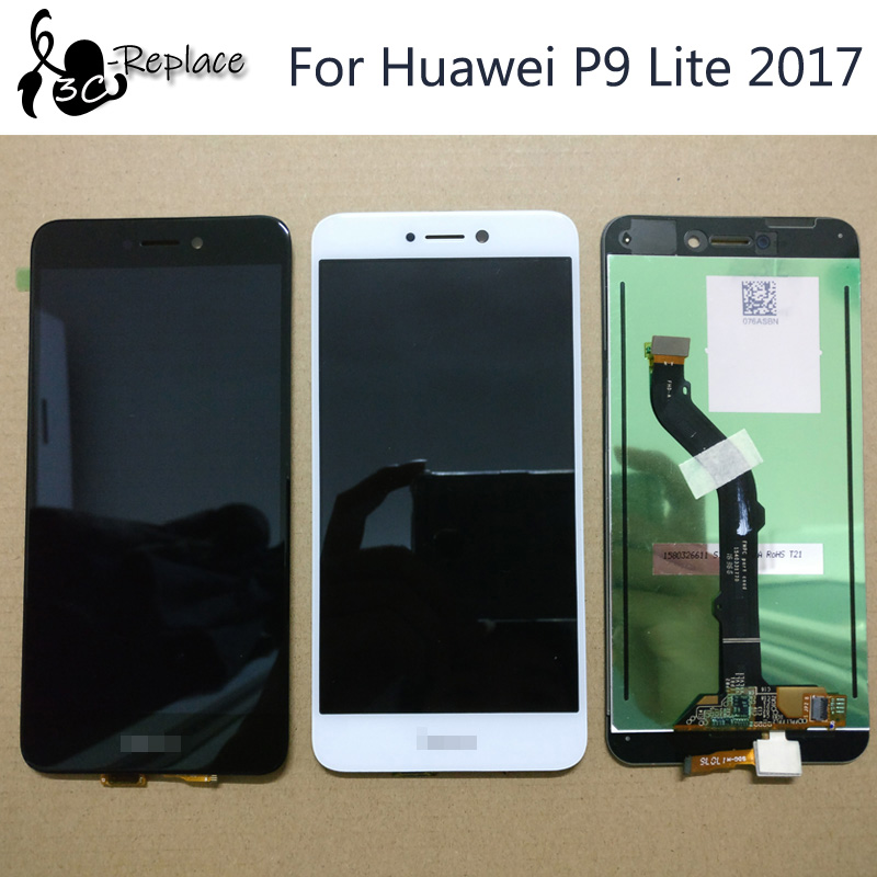 100% Tested High Quality 5.2 inch For Huawei P9 Lite 2017 PRA-LX3 LCD DIsplay + Touch Screen Digitizer Assembly Replacement