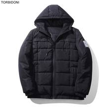 Hooded Winter Jacket Men Fashion Patch Design Brand Parka Thick Wam Men Clothing Zipper Fly Coat Male With Pockets Average 1KG