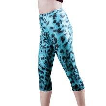 Женские укороченные брюки для велоспорта, обтягивающие штаны, велосипедная спортивная одежда с 3D гелевыми вставками, шорты с леопардовым принтом, штаны для бега