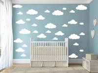 31pcs Set DIY Clouds 4 10 Inch Wall Sticker Removable Wall Decals Vinyl Kids Room Home