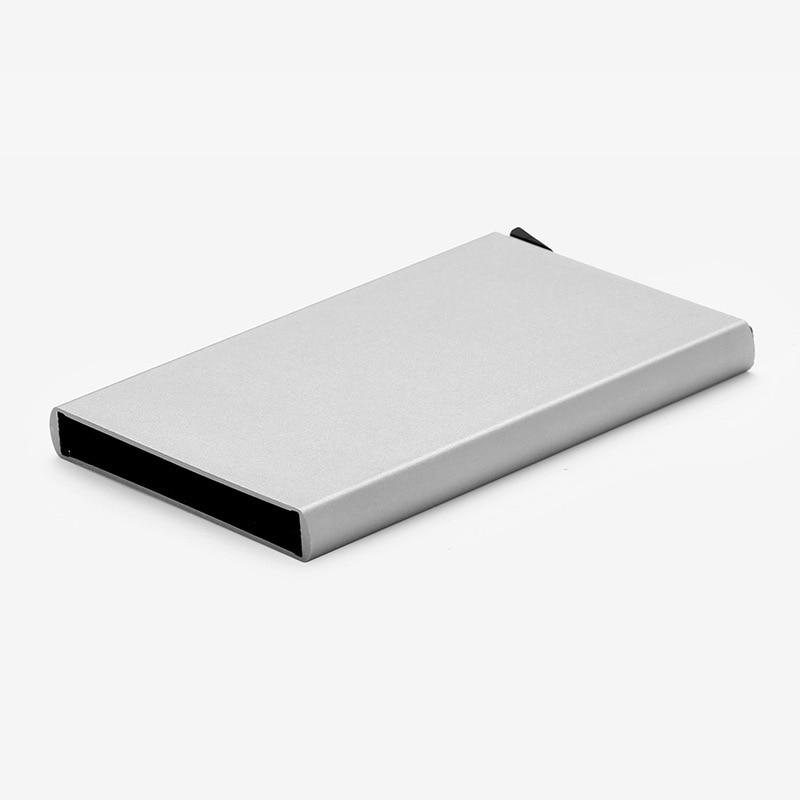 Держатель для кредитных карт с защитой, Rfid-кошелек, металлический чехол 2